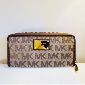Michael Kors brown logo wallet